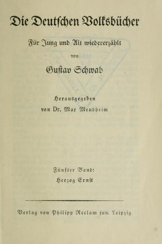 Die deutschen Volksbücher für Jung und Alt wiedererzählt