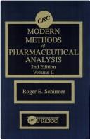 Modern methods of pharmaceutical analysis