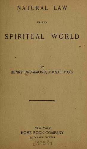 Download Natural law in the spiritual world