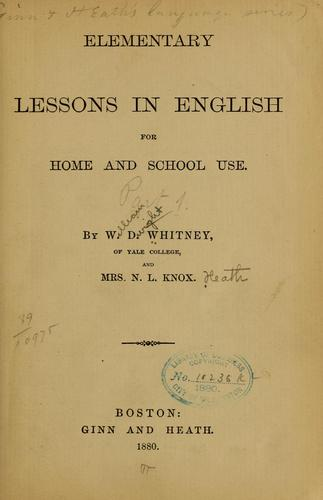 Download Elementary lessons in English for home and school use.