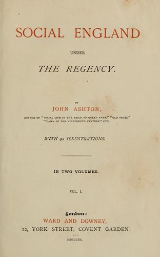 Download Social England under the regency