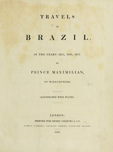 Download Travels in Brazil in the years 1815, 1816, 1817