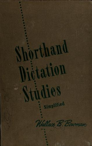 Download Shorthand dictation studies