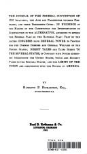 The journal of the Federal Convention of 1787 analyzed