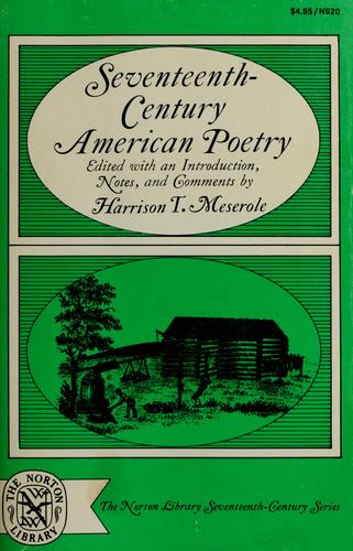 Download Seventeenth-century American poetry.