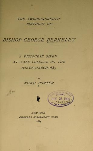Download The two-hundredth birthday of Bishop George Berkeley