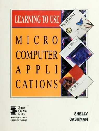 Learning to use microcomputer applications.