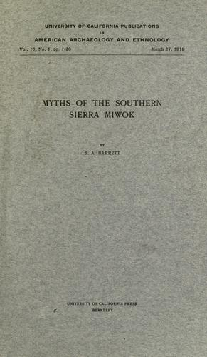Download Myths of the Southern Sierra Miwok