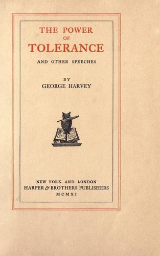 Download The power of tolerance