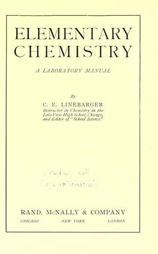 Elementary chemistry
