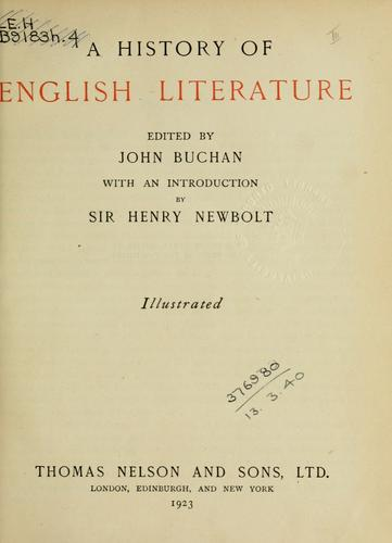 Download A history of English literature
