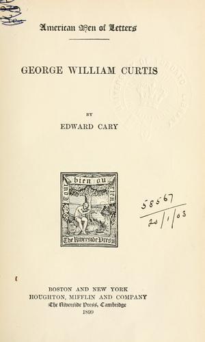 George William Curtis.