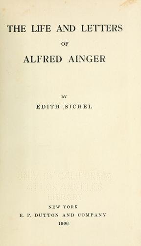 Download The life and letters of Alfred Ainger