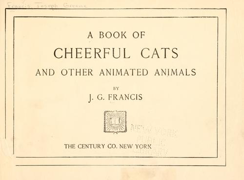 Download A book of cheerful cats and other animated animals