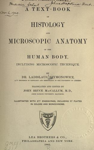 Download A text-book of histology and microscopic anatomy of the human body