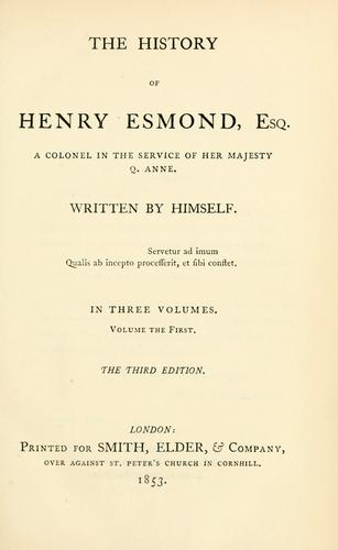 Download The history of Henry Esmond, Esq.