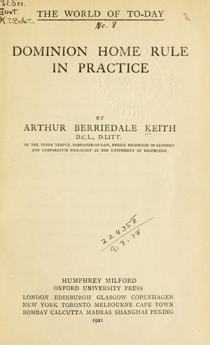 Download Dominion Home Rule in practice.