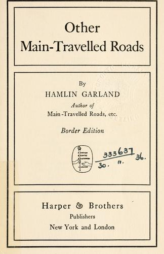 Other main-travelled roads.