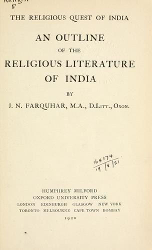 Download An outline of the religious literature of India
