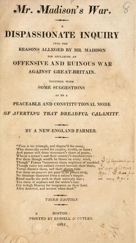 Download Mr. Madison's war