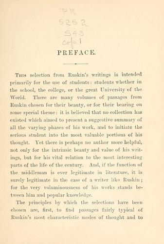 An introduction to the writings of John Ruskin.