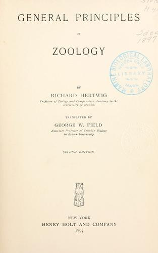 General principles of zoology
