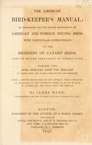 Download The American bird-keeper's manual
