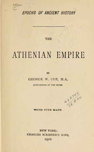 Download The Athenian empire.