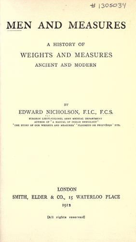 Download Men and measures