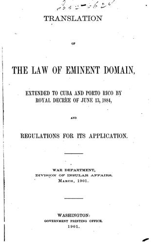 Download Translation of the law of eminent domain