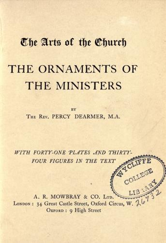 Download The ornaments of the ministers