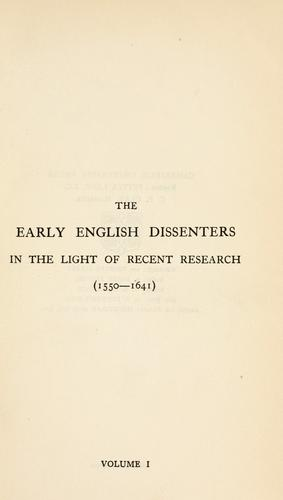 Download The early English dissenters