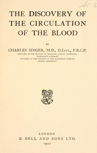The discovery of the circulation of the blood