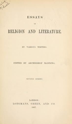 Essays on religion and literature