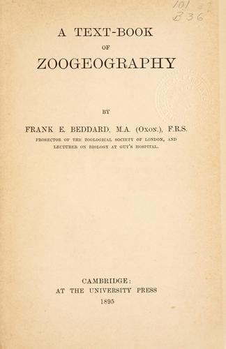 Download A text-book of zoogeography