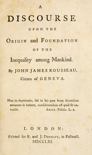 Download A discourse upon the origin and foundation of the inequality among mankind