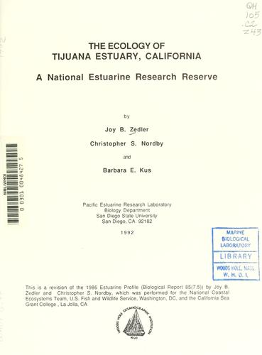 Download The ecology of Tijuana Estuary, California