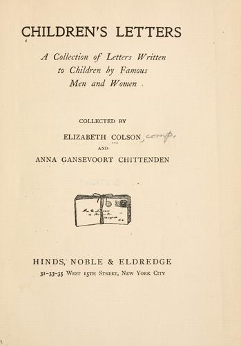 Children's letters
