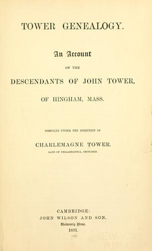 Download Tower genealogy.