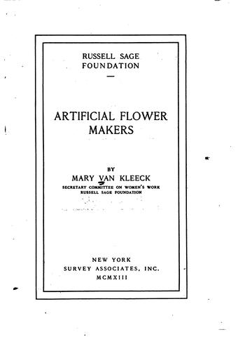 Artificial flower makers.