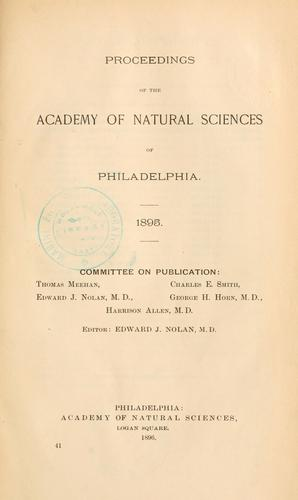 Download Proceedings of the Academy of Natural Sciences of Philadelphia, Volume 47