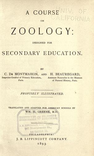 A course on zoology
