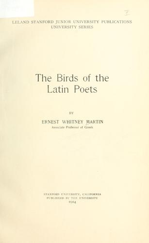 Download The birds of the Latin poets.