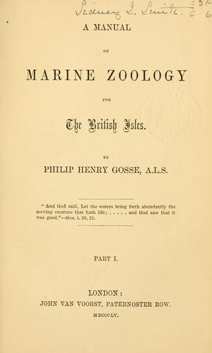 A manual of marine zoology for the British Isles.