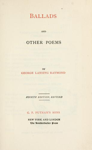 Ballads, and other poems.