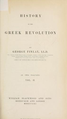 History of the Greek revolution.