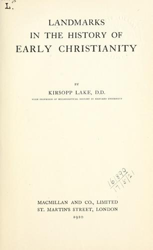 Download Landmarks in the history of early Christianity.