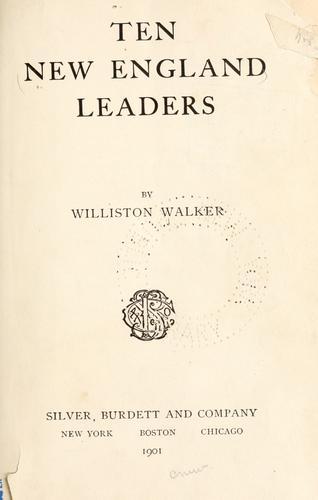 Download Ten New England leaders