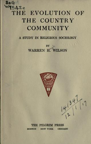 Download The evolution of the country community