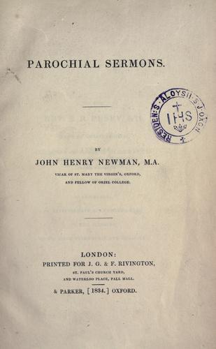 Download Parochial sermons
